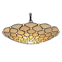 Searchlight Raindrop Tiffany Glass Uplighter Clear Droplet Shade Ceiling Light