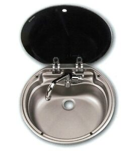 Dometic-VA7306AC-Round-Sink-Stainless-Steel