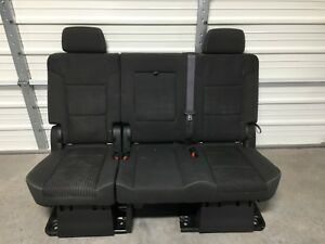 Pleasing Details About 2007 2018 Suburban Escalade Esv Yukon Xl 2Nd Second Row Black Bench Seat Dailytribune Chair Design For Home Dailytribuneorg