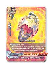 Buddyfight x 1 Sun Fist, Bal Knuckle [D-BT01/0026EN R] English Mint Future Card