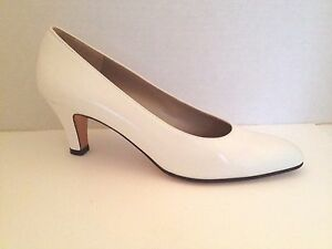 Salvatore-Ferragamo-Heels-Womens-Size-7-5-AAAA-Narrow-Off-White-Shoes-7-1-2-Pump