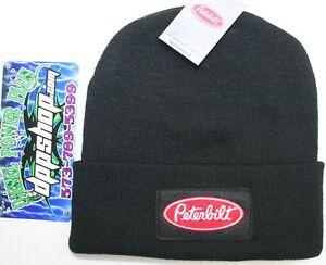 Peterbilt Beanie Stocking cap hat truck toboggan ski knit cuff black ... 5d8977c5d0d3
