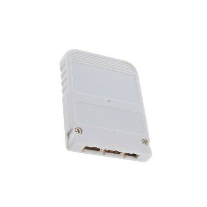 White 1 MB 1MB Memory Card Stick For Playstation 1 One PS1 PSX Gam LW UK