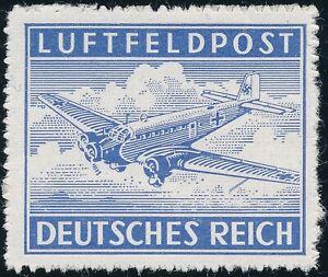 Stamp Germany Feldpost Mi 1 Sc MC1 WW2 3 Reich Emblem War Eagle Airplane MNG