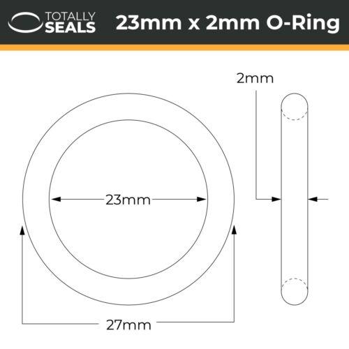 23x2 Nitrile NBR Anneaux Rondelles 23mm Diamètre Interne X 2mm Croix Section