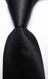 New-Classic-Checks-Full-Black-JACQUARD-WOVEN-100-Silk-Men-039-s-Tie-Necktie