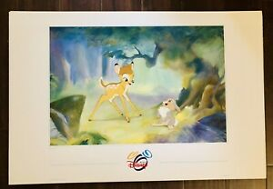 Disney-The-Art-Of-Disney-Bambi-35-5-X24-Original-Poster-Print-HTF