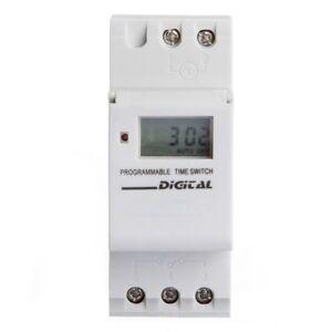 16A-LCD-Programmatore-Orario-Modulare-Timer-Interruttore-Bianco-S2A8