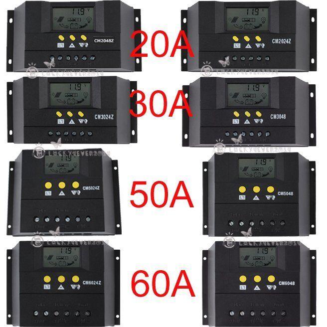 20A 30A 50A 60A 12V-24V Solarregler Solarladeregler Solarpanel Controller L4w
