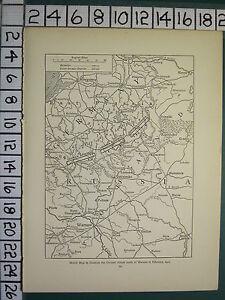 1915 WWI WW1 MAP ~ GERMAN ATTACK NORTH OF WARSAW FEB 1915 RUSSIA ...