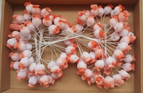 Millinery Bundles Roses Bell Shaped//Salmon Tips $ 29.99 Box of 8 Vin