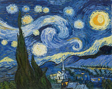 Handmade oil on canvas reproduction of Starry night by Van Gogh painting 73x92cm