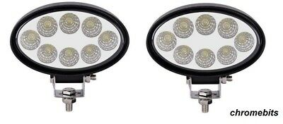 2X 24W LED Work Light Oval Flood Driving Lamp Offroad Light Bar SUV Truck 4X4