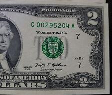$2 TWO Dollar Bill 2009, 2013 Year Mint Crisp US Currency