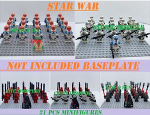 21-pcs-Star-Wars-lego-Compatible-501st-TROOPER-clone-Trooper-Printed-minifigures