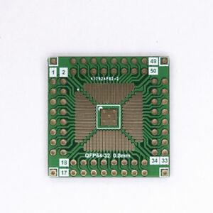 4pcs IC QFP TQFP FQFP LQFP to DIP 0.5//0.8//2.54mm Adapter PCB Board Converter