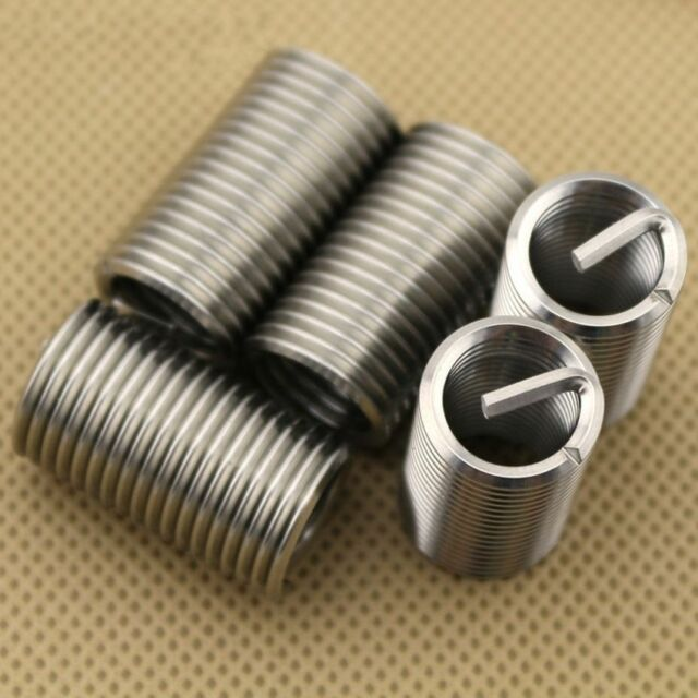 50pcs M8-M12 Fine Thread Stainless Steel Coiled Wire Helical Screw Thread Inserts Set Steel Coiled Wire Helical Screw