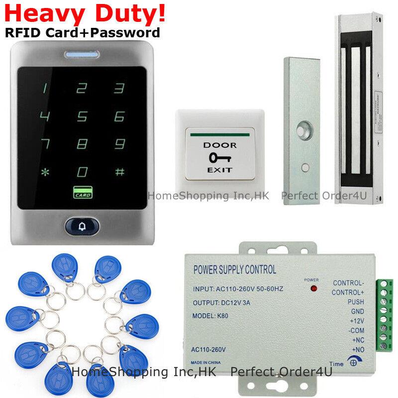 Tarjeta Rfid nos Impermeable + contraseña Puerta Sistema De Control De Acceso + Cerradura de puerta magnética