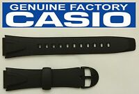 Casio W-751 Original 18mm Black Rubber Watch Band Strap W-751