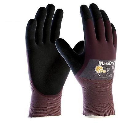 MaxiDry 3/4 Coated - 56-425 Nitrile Foam Palm Coated Waterproof Work Gloves