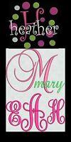 Huge Sale Machine Embroidery Designs Fonts 3 Sets Monogram Script Curlz Dots