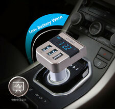 5V Output 3.1A 3 USB Quick Charger Display Fast Car Charging For iPhone Android