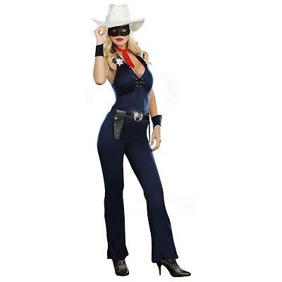 Cowgirl Costume Adult Lone Ranger Halloween Fancy Dress