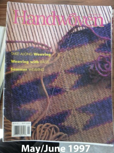 May//June 1997 Handwoven Magazine Weaving Tapestries; Portable Weaving; Navajo