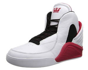 Supra-Chimera-SP51002-Mens-Shoes-Skate-Sneakers-White-Black-Leather-Retro