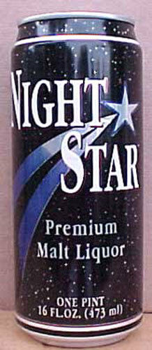 NIGHT STAR MALT LIQUOR 16oz Beer CAN, Heileman, La Crosse, WISCONSIN, grade 1/1+