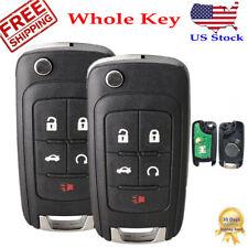 2 Car Remote Key Fob For 2011 2012 2013 2014 2015 2016 Chevy Cruze Sonic Equinox Fits 2012 Chevrolet Cruze Lt