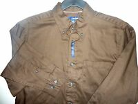 Men's Long Sleeve Casual Shirt Cotton & Polyester Button Front,several Sizes, 6