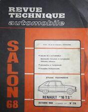 Revue technique RENAULT 16 TS R 1151 RTA 270 1968 + SALON 1968