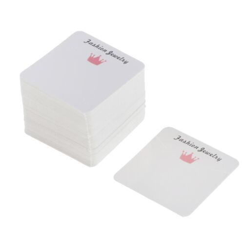 100er Pack Anhänger Display Karten Halskettehalter fit für Schmuckschachteln