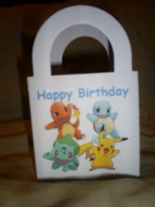 POKEMON-GO-Birthday-Party-pack-12-Favor-Boxes-Bags-Free-Personalization