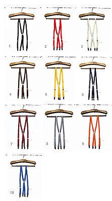 Free P/&P Skinny Thin Braces Suspenders 1.5cm Wide Mod Preppy Made in Japan