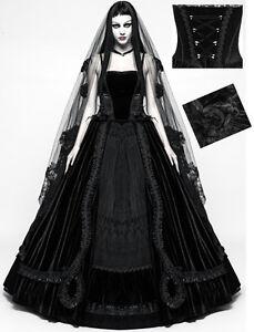 robe de mari e mariage gothique baroque velours dentelle. Black Bedroom Furniture Sets. Home Design Ideas