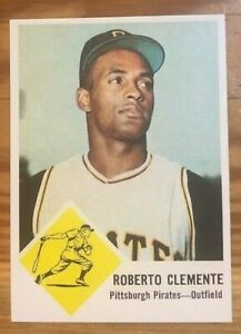 1963-Fleer-Reprint-56-Roberto-Bob-Clemente-Pittsburgh-Pirates-Card-MINT-RP