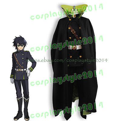Owari no Seraph of the End Yuichiro Hyakuya Cosplay Costume Outfit Attire+Cape