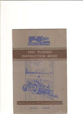 Original Manual Smart Ferguson Disc Plough Instruction Book ........................ Other