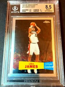 BGS-8-5-2007-08-TOPPS-CHROME-BASKETBALL-LEBRON-JAMES-1957-58-VARIATION