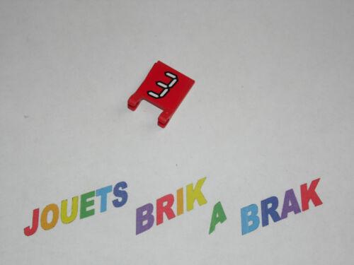 Lot lego de drapeau flag  2x2 accessoire figurine ref 2335 choose model color