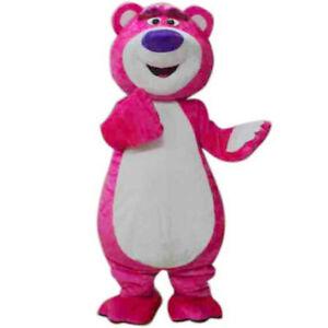Toy Story Lots-O/'-Huggin/' Bear Lotso Mascot Costume Fancy Party Dress FREE SHIPP