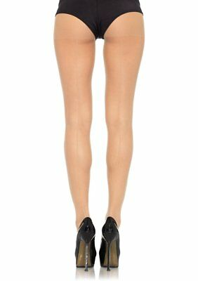Leg Avenue Black Sheer Seamed Seam Tights Pantyhose 9002