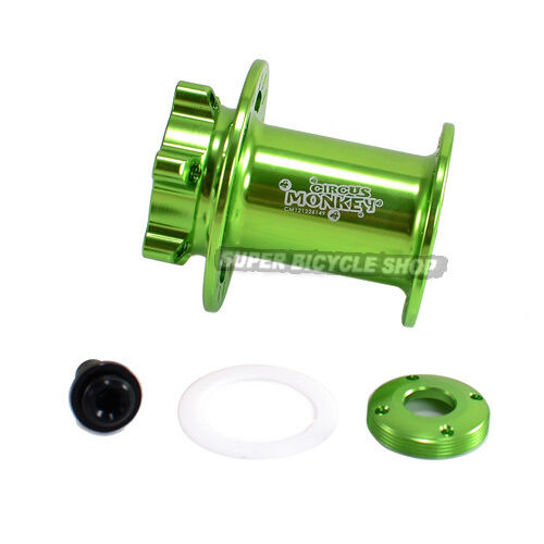 Circus Monkey Disc CNC Lefty Front Hub For Cannonbale,32 Hole,Apple groen