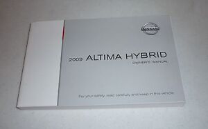 2009 nissan altima hybrid owners manual 09 guide ebay rh ebay com 2008 nissan altima owners manual download 2009 nissan altima owner manual