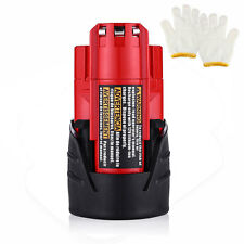12V 2500mAh For Milwaukee 48-11-2401 M12 12 Volt Red Lithium-Ion Battery Pack