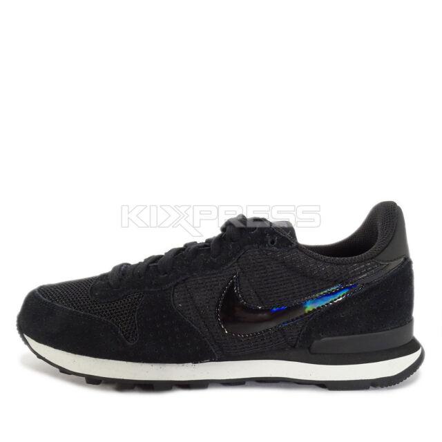 Wmns Nike Internationalist Black Grey Womens Running Shoes Sneakers 828407003