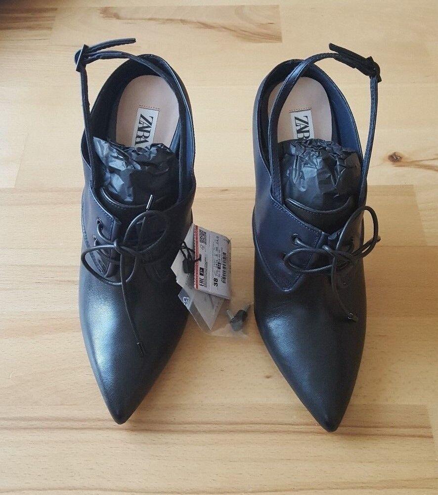 ZARA STUDIO TIED HIGH HEEL SIZE LEATHER SLINGBACK Schuhe BNWT SIZE HEEL UK 6 EU 395229/201 05ebb4