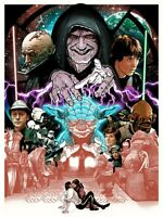 Star Wars Return Of The Jedi (ap) Screen Print Poster Joshua Budich Mondo Rotj